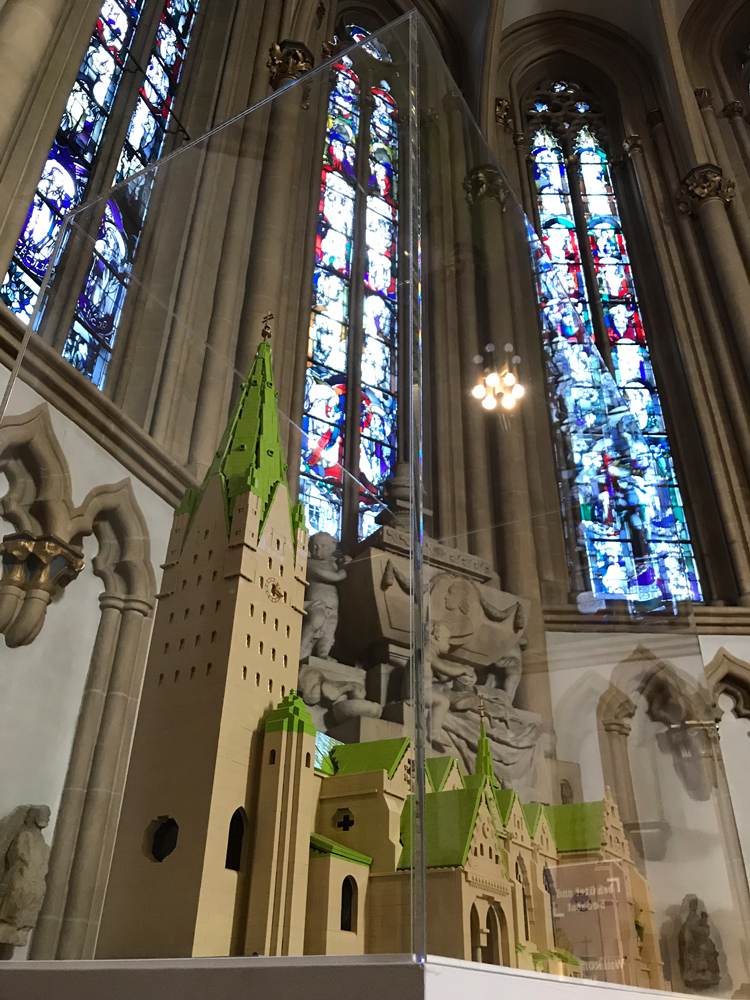 LEGO-model in the cathedral of Paderborn